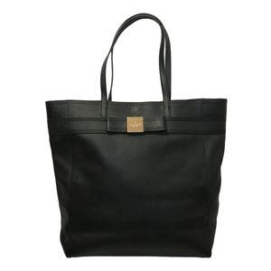 Kate Spade Large Black Leather Tote with Bow